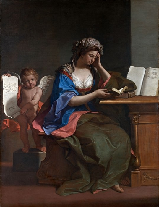 guercino - the samian sibyl with a putto. Part 6 National Gallery UK