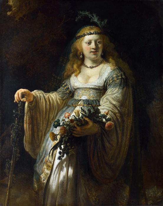 Saskia van Uylenburgh in Arcadian Costume. Rembrandt Harmenszoon Van Rijn