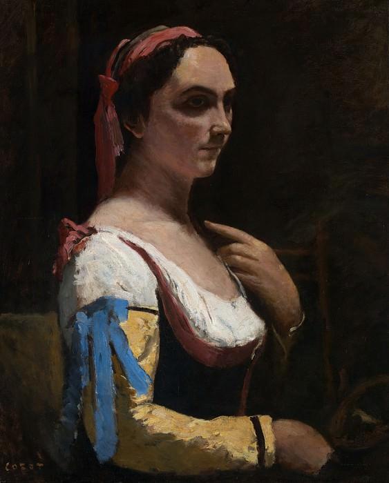 Jean-Baptiste-Camille Corot - Italian Woman. Part 6 National Gallery UK