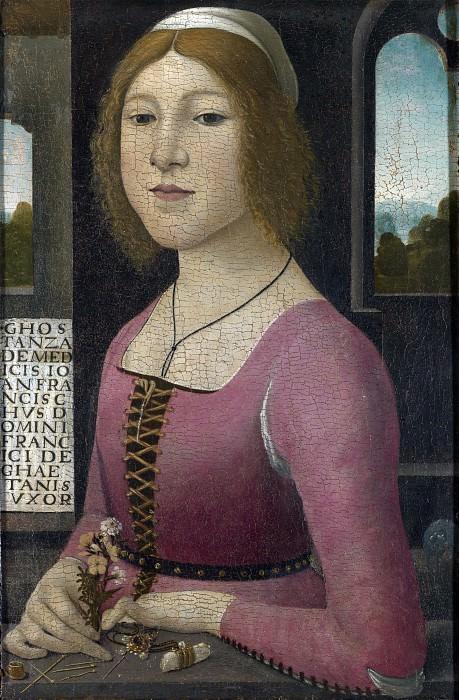 Style of Domenico Ghirlandaio - Costanza Caetani. Part 6 National Gallery UK