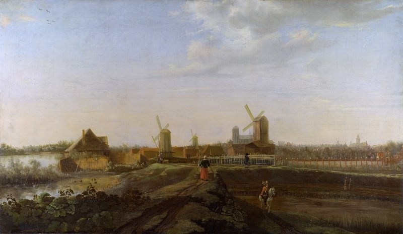 Willem van Drielenburgh - A Landscape with a View of Dordrecht. Part 6 National Gallery UK