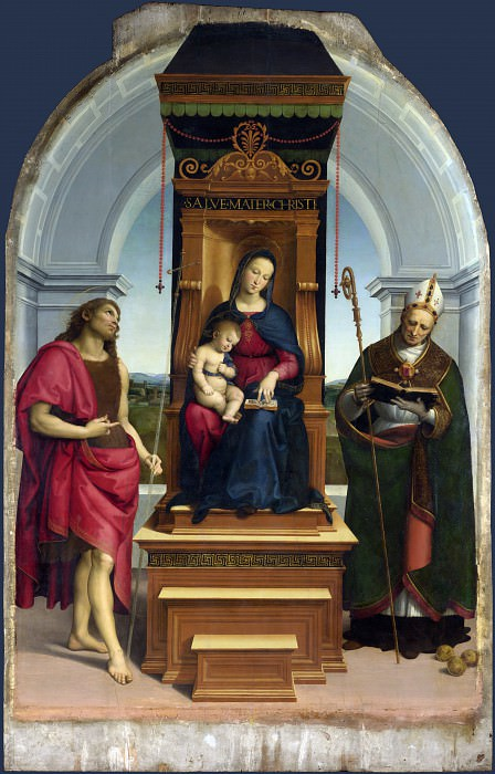 Raphael - The Ansidei Madonna. Part 6 National Gallery UK