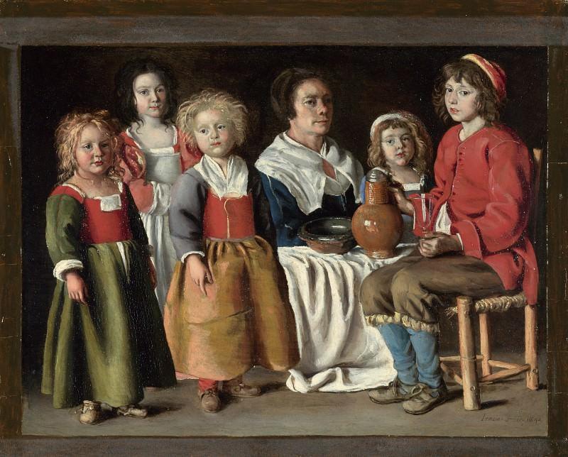 Братья Ленен - Женщина с пятью детьми. Часть 6 Национальная галерея