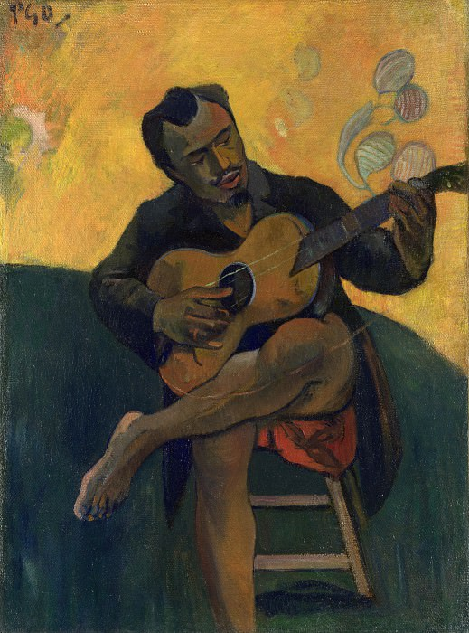 The Guitar Player - Paul Gauguin. Part 6 National Gallery UK
