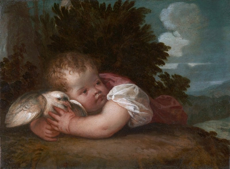 Titian or Titian workshop - A Boy with a Bird. Part 6 National Gallery UK