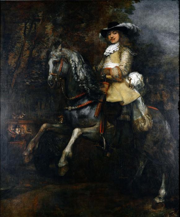 Rembrandt - Portrait of Frederick Rihel on Horseback. Part 6 National Gallery UK