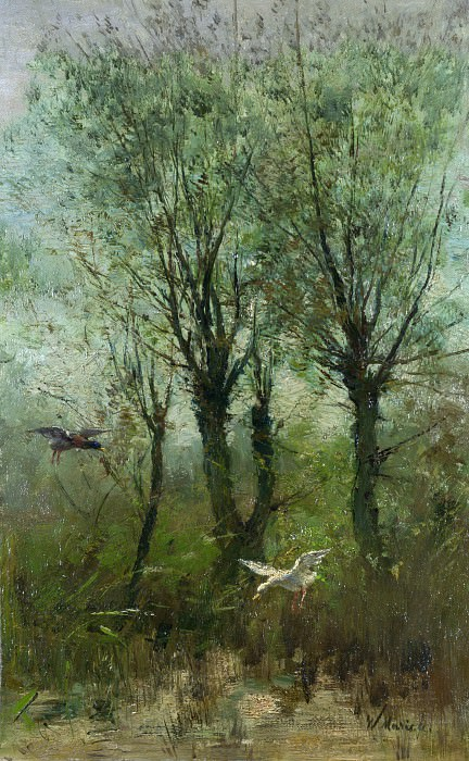 Willem Maris - Ducks alighting on a Pool. Part 6 National Gallery UK