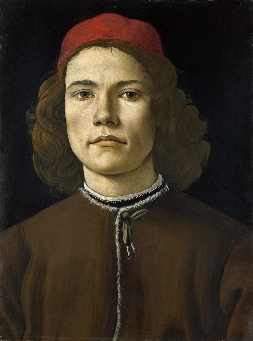 Portrait of a Young Man. Alessandro Botticelli