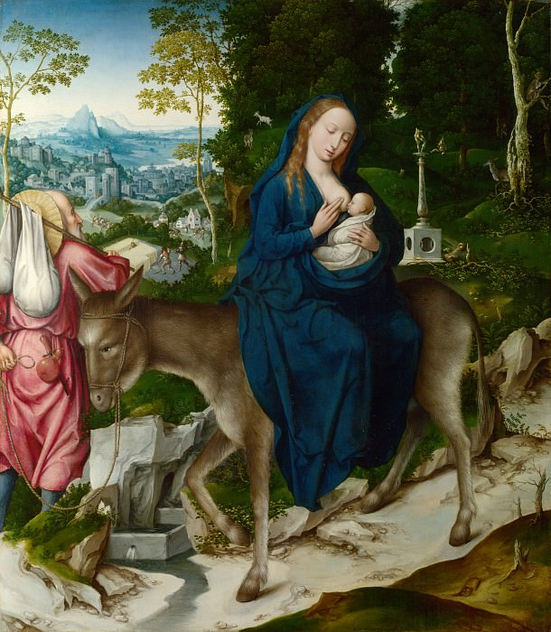 Workshop of the Master of 1518 - The Flight into Egypt. Part 6 National Gallery UK