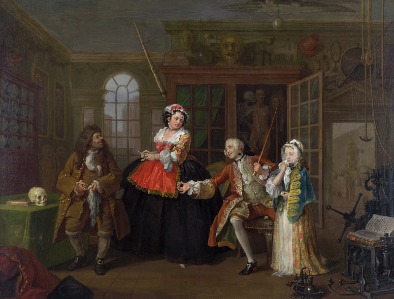 William Hogarth - Marriage A-la-Mode - 3, The Inspection. Part 6 National Gallery UK