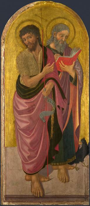 Дзаноби Макиавелли - Святые Иоанн Креститель и Иоанн Евангелист. Часть 6 Национальная галерея