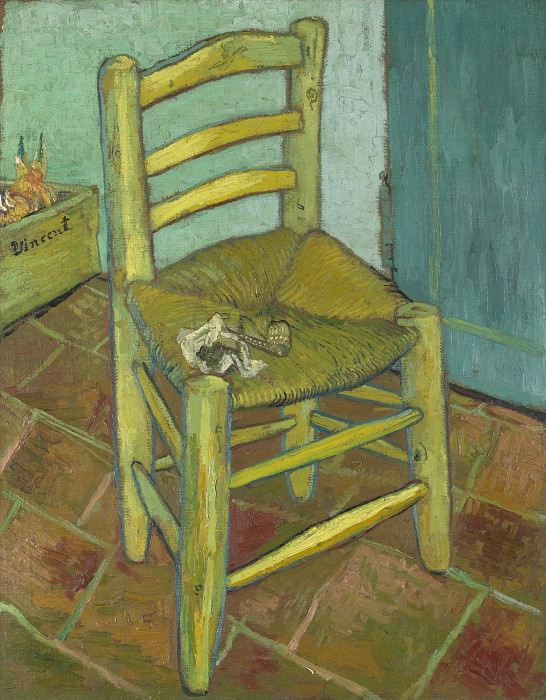 Van Goghs Chair. Vincent van Gogh