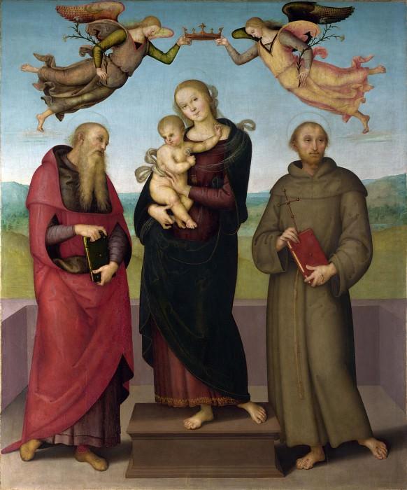 Пьетро Перуджино - Мадонна с Младенцем со святыми Иеронимом и Франциском. Часть 6 Национальная галерея