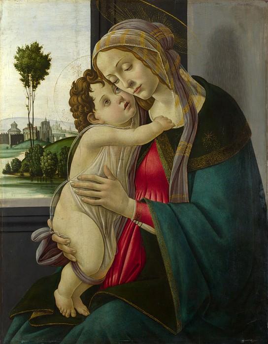 Сандро Боттичелли (мастерская) - Мадонна с Младенцем. Часть 6 Национальная галерея