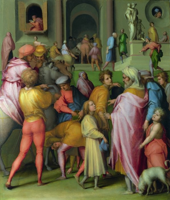 Pontormo - Joseph sold to Potiphar. Part 6 National Gallery UK
