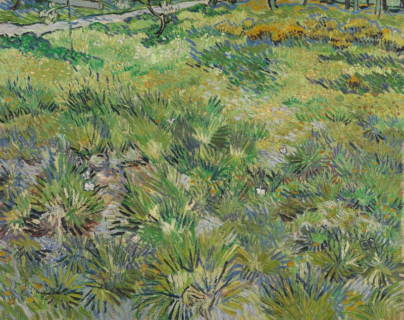 Long Grass with Butterflies. Vincent van Gogh