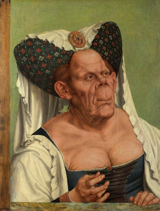 Quinten Massys - An Old Woman (The Ugly Duchess). Part 6 National Gallery UK