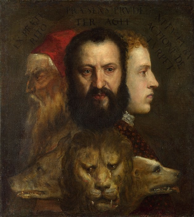 An Allegory of Prudence (Titian and workshop). Titian (Tiziano Vecellio)