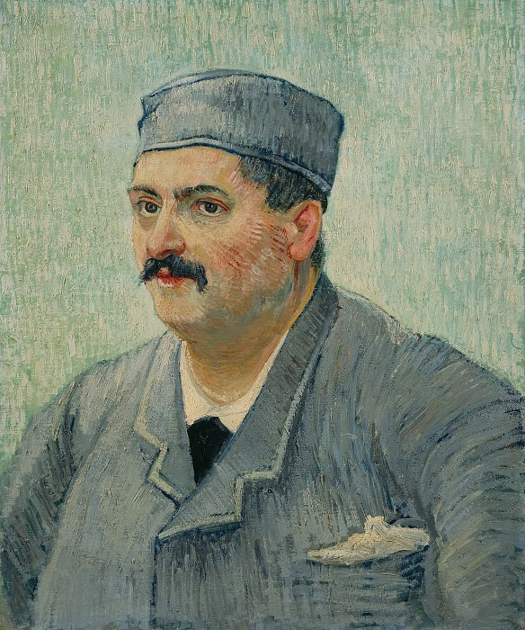 Portrait of a Restaurant Owner, possibly Lucien Martin - Vincent van Gogh. Part 6 National Gallery UK