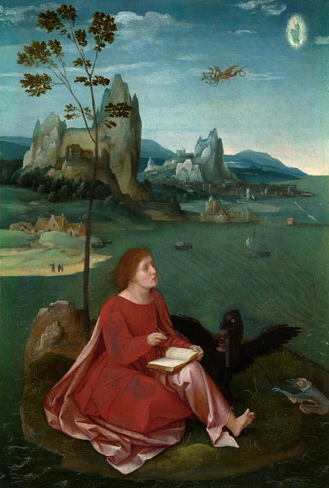 Workshop of the Master of the Female Half-Lengths - Saint John on Patmos. Part 6 National Gallery UK