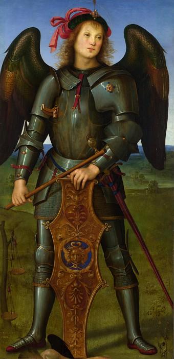 Пьетро Перуджино - Архангел Михаил (панель из алтаря картезианского монастыря). Часть 6 Национальная галерея