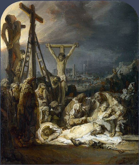 The Lamentation over the Dead Christ. Rembrandt Harmenszoon Van Rijn