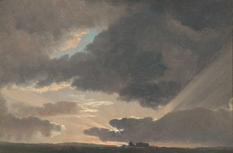 Simon Denis - Sunset in the Roman Campagna. Part 6 National Gallery UK