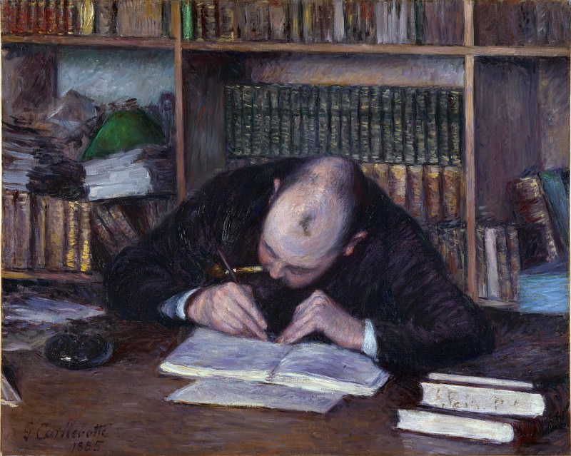 Portrait of the Bookseller E. J Fontaine - Gustave Caillebotte. Part 6 National Gallery UK