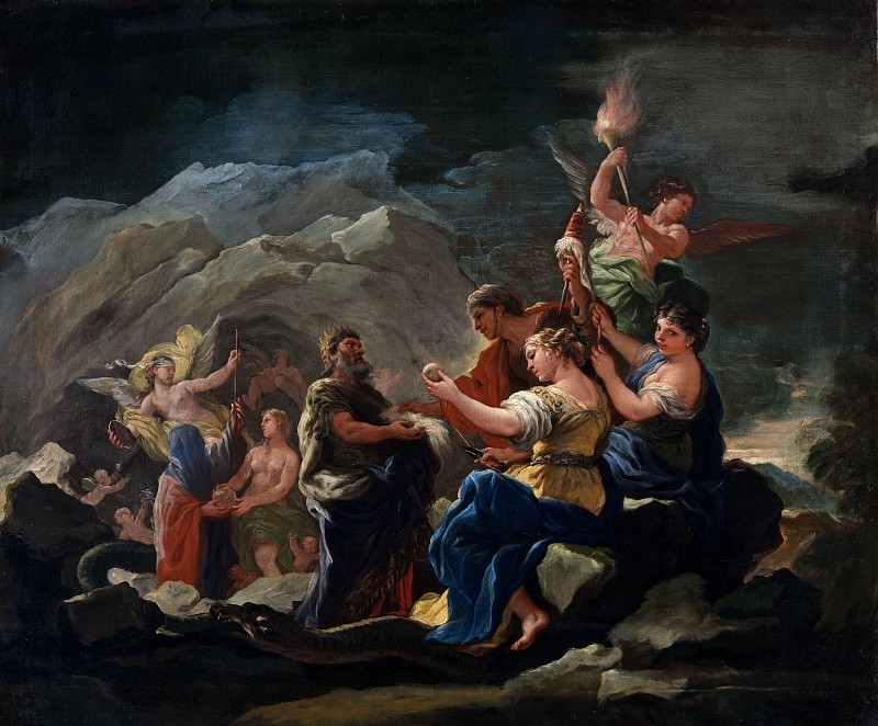 Luca Giordano - The Cave of Eternity. Part 6 National Gallery UK