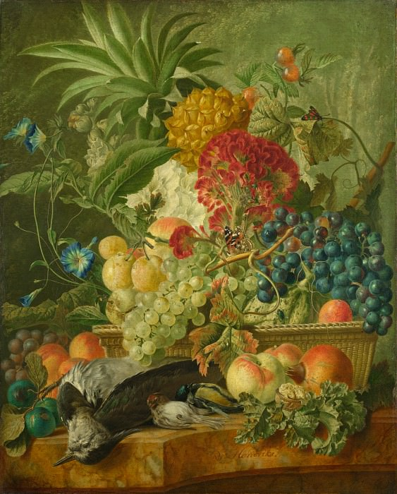 Wybrand Hendriks - Fruit, Flowers and Dead Birds. Part 6 National Gallery UK