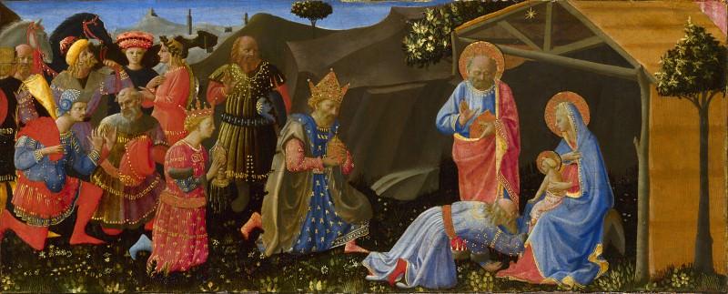Zanobi Strozzi - The Adoration of the Magi. Part 6 National Gallery UK