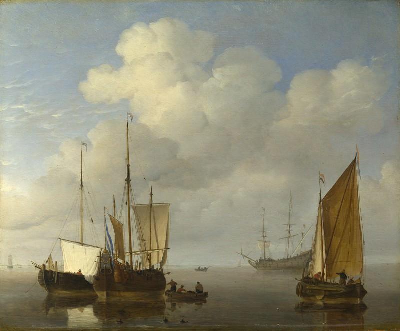 Willem van de Velde - Dutch Ships in a Calm. Part 6 National Gallery UK