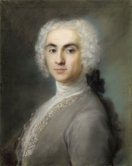 Rosalba Giovanna Carriera - Portrait of a Man. Part 6 National Gallery UK