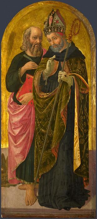 Дзаноби Макиавелли - Святые Марк и Августин. Часть 6 Национальная галерея