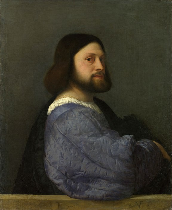 A Man with a Quilted Sleeve. Titian (Tiziano Vecellio)