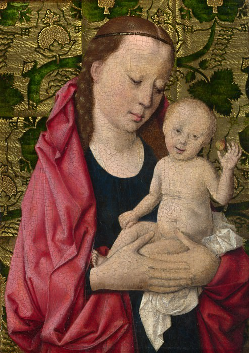 Workshop of Dirk Bouts - The Virgin and Child. Part 6 National Gallery UK