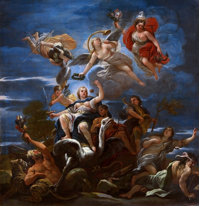 Luca Giordano - Allegory of Justice. Part 6 National Gallery UK