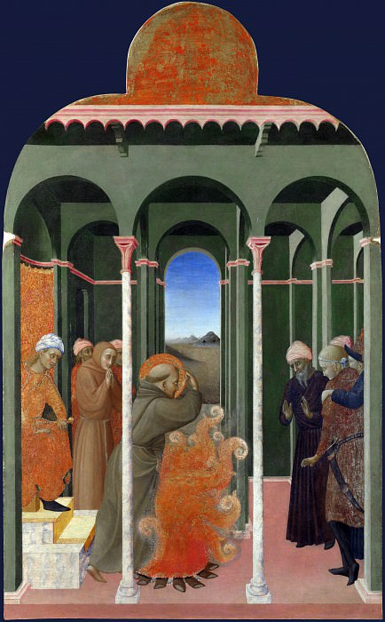 Sassetta - Saint Francis before the Sultan. Part 6 National Gallery UK
