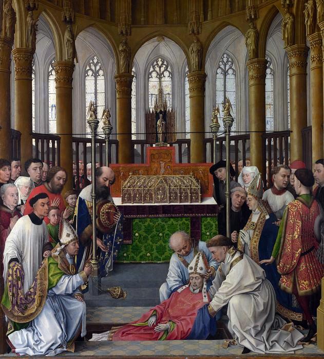 Rogier van der Weyden and workshop - The Exhumation of Saint Hubert. Part 6 National Gallery UK