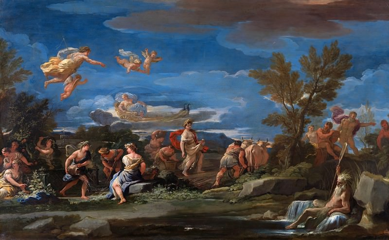 Luca Giordano - Mythological Scene of Agriculture. Part 6 National Gallery UK