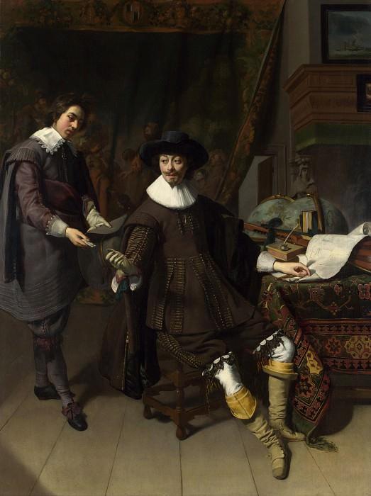 Thomas de Keyser - Portrait of Constantijn Huygens and his Clerk. Part 6 National Gallery UK