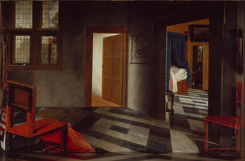 Samuel van Hoogstraten - A Peepshow with Views of the Interior of a Dutch House. Part 6 National Gallery UK