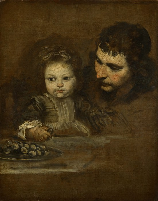 Spanish - A Man and a Child eating Grapes. Part 6 National Gallery UK