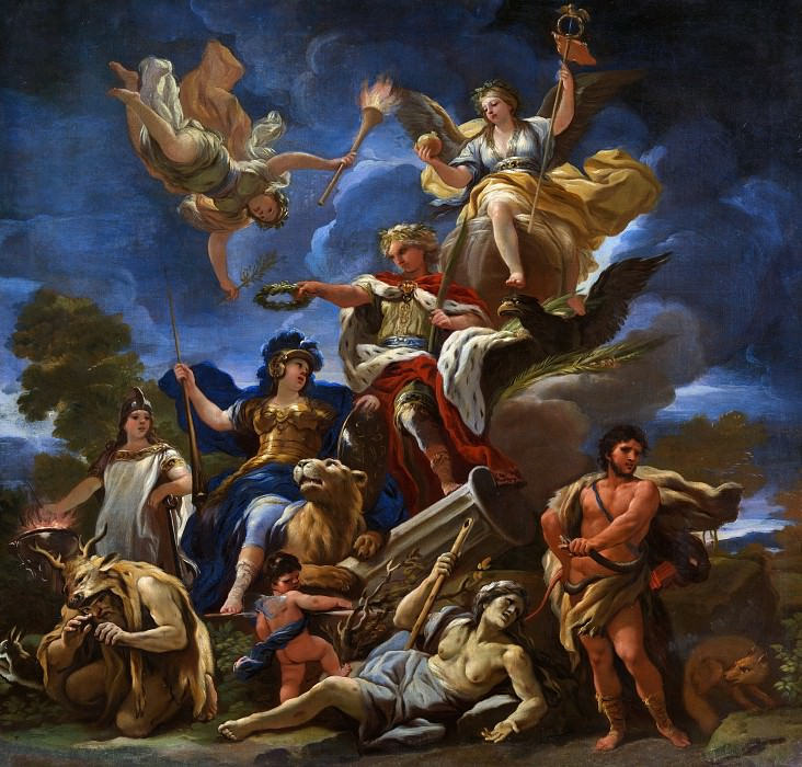 Luca Giordano - Allegory of Fortitude. Part 6 National Gallery UK