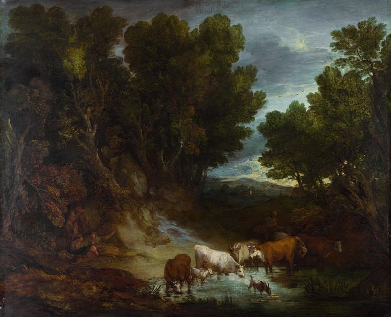 Thomas Gainsborough - The Watering Place. Part 6 National Gallery UK