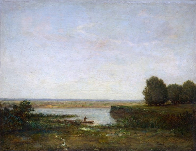 Теодор Руссо - Речной пейзаж. Часть 6 Национальная галерея
