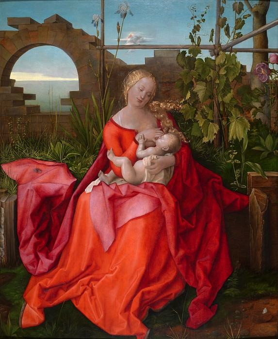 Workshop of Albrecht Durer - The Virgin and Child (The Madonna with the Iris). Part 6 National Gallery UK