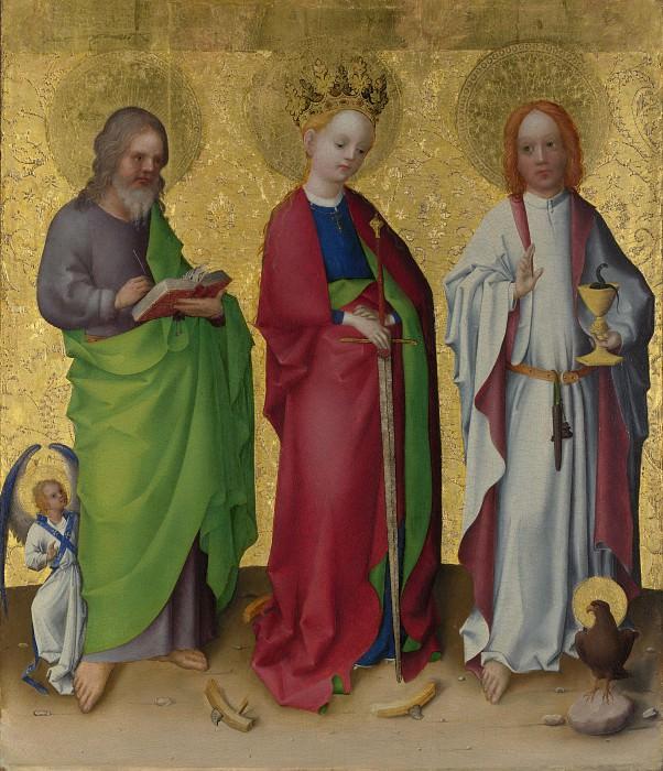 Stephan Lochner - Three Saints. Part 6 National Gallery UK