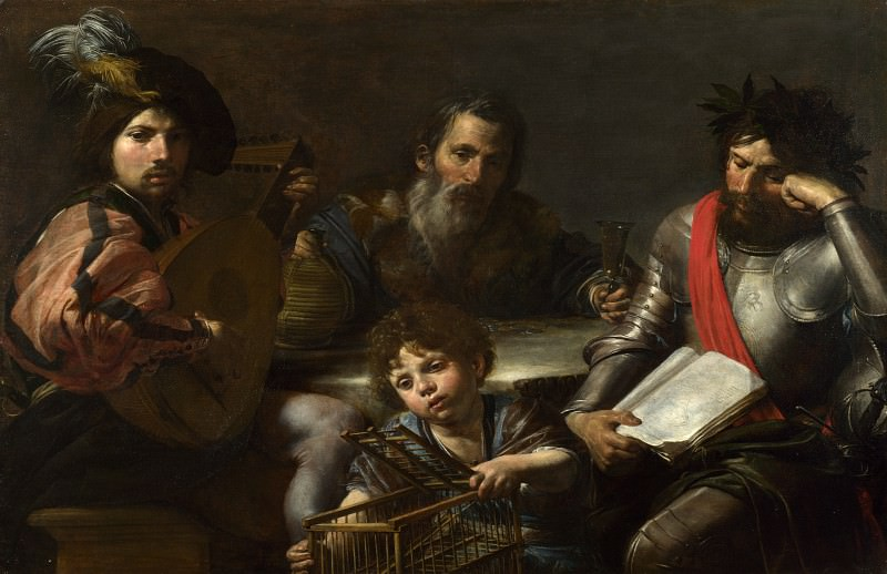 Valentin de Boulogne - The Four Ages of Man. Part 6 National Gallery UK
