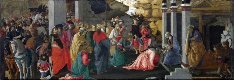 Sandro Botticelli and Filippino Lippi - Adoration of the Kings. Part 6 National Gallery UK